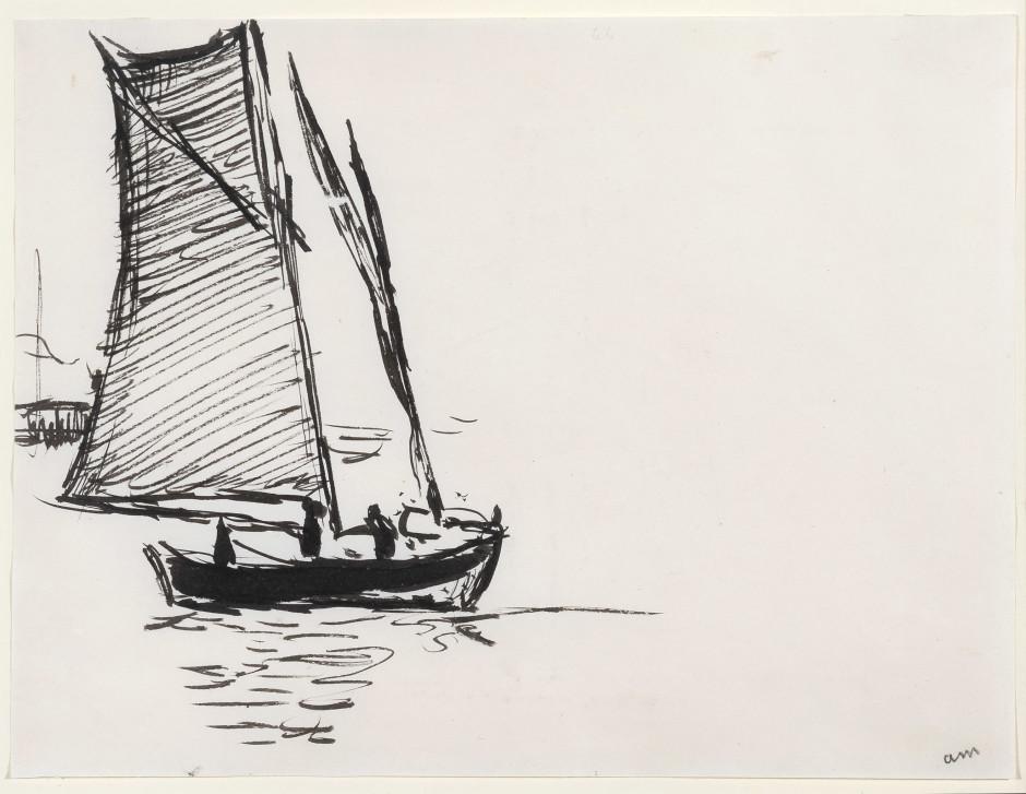"""<span class=""""artist""""><strong>Albert Marquet</strong></span>, <span class=""""title""""><em>Voilier</em>, c.1914-16</span>"""