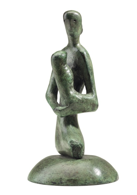 "<span class=""artist""><strong>Henry Moore</strong></span>, <span class=""title""><em>Mother and Child: Gothic</em>, 1975</span>"