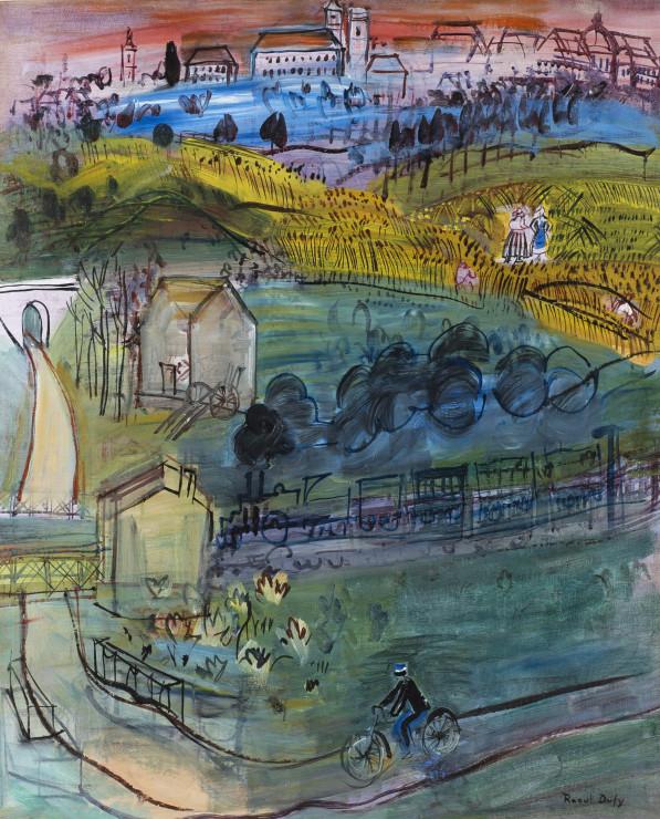 "<span class=""artist""><strong>Raoul Dufy</strong></span>, <span class=""title""><em>Landscape at Langres</em>, 1933-1935</span>"