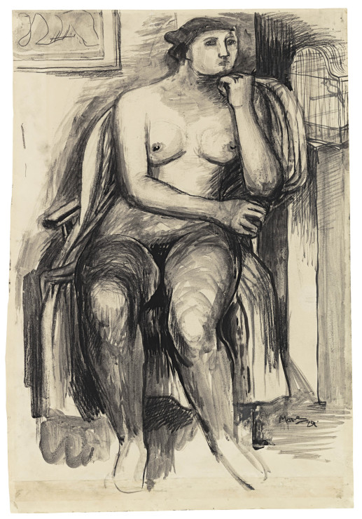 <span class=&#34;artist&#34;><strong>Henry Moore</strong></span>, <span class=&#34;title&#34;><em>Seated Female Nude</em>, 1929</span>