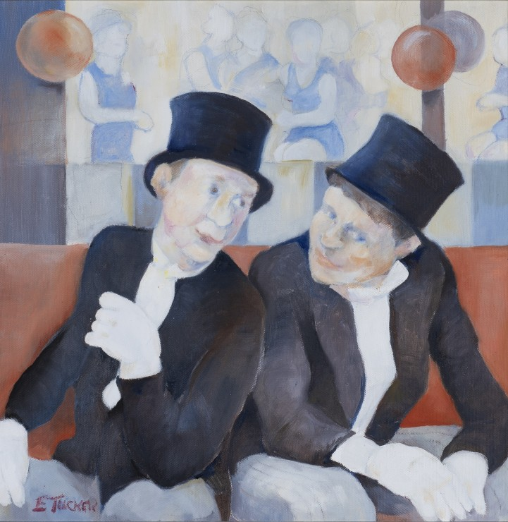 """<span class=""""artist""""><strong>Eric Tucker</strong></span>, <span class=""""title""""><em>Top Hatted Duo</em></span>"""