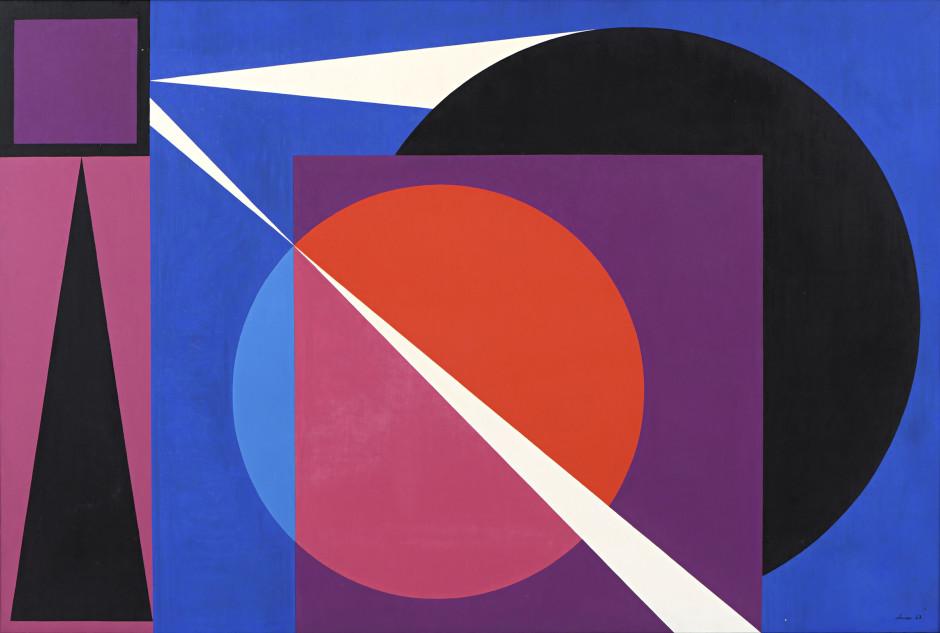 "<span class=""artist""><strong>Geneviève Claisse</strong></span>, <span class=""title""><em>Symphonique</em>, 1963</span>"