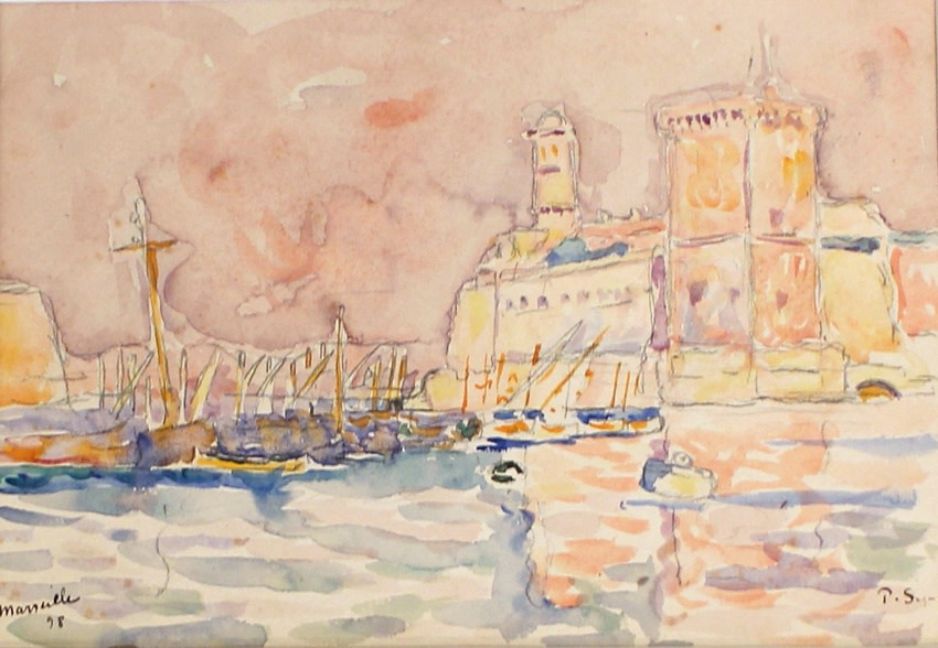 "<span class=""artist""><strong>Paul Signac</strong></span>, <span class=""title""><em>Marseille</em>, 1898</span>"