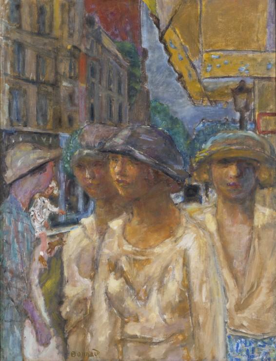 """<span class=""""artist""""><strong>Pierre Bonnard</strong></span>, <span class=""""title""""><em>Jeunes Femmes dans la Rue</em>, c.1922</span>"""