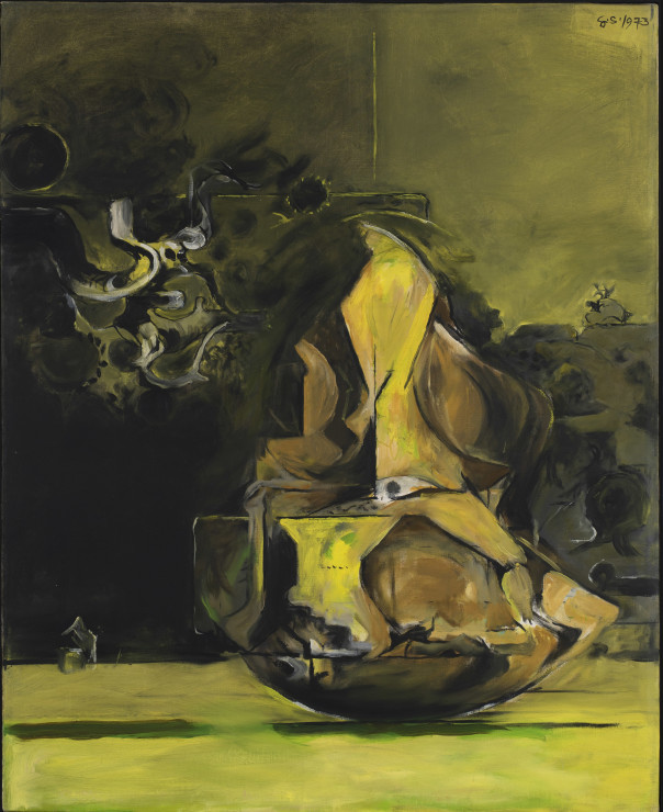 Graham Sutherland, Rock form against woods, 1973
