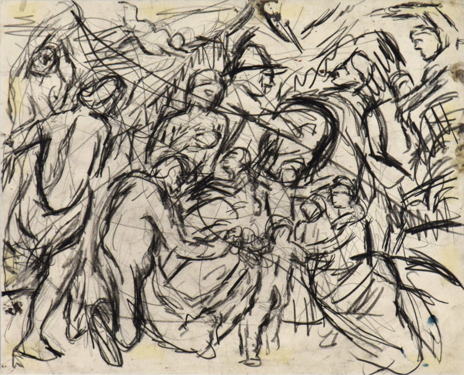 "<span class=""artist""><strong>Leon Kossoff</strong></span>, <span class=""title""><em>From 'Minerva Protects Pax from Mars' by Rubens</em>, c. 1980 - 1981</span>"
