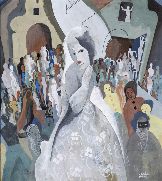 "<p><span class=""artist""><strong>Béla Kadar</strong></span>, <span class=""title""><em>The Wedding</em>, c. 1940</span></p>"
