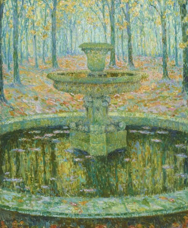 """<span class=""""artist""""><strong>Henri Le Sidaner</strong></span>, <span class=""""title""""><em>La Vasque, Versailles</em>, 1921</span>"""