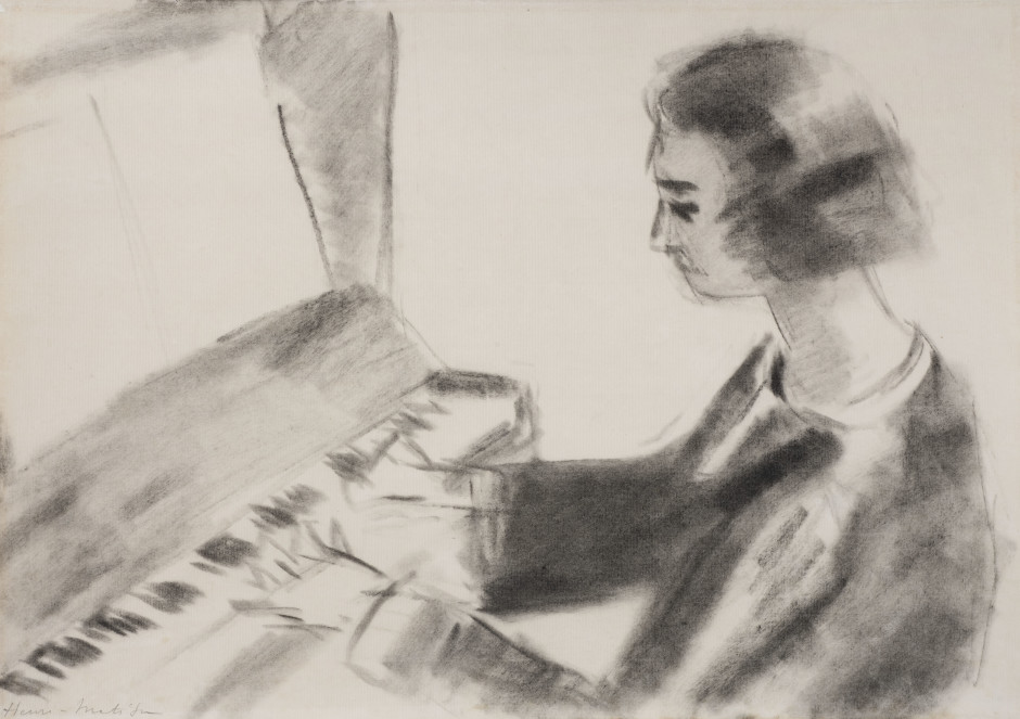 """<span class=""""artist""""><strong>Henri Matisse</strong></span>, <span class=""""title""""><em>Woman at the Piano</em>, c. 1923-4</span>"""