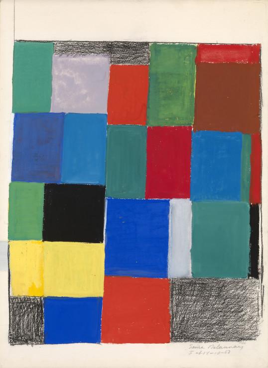 "<span class=""artist""><strong>Sonia Delaunay</strong></span>, <span class=""title""><em>Rythme couleur</em>, 1968</span>"