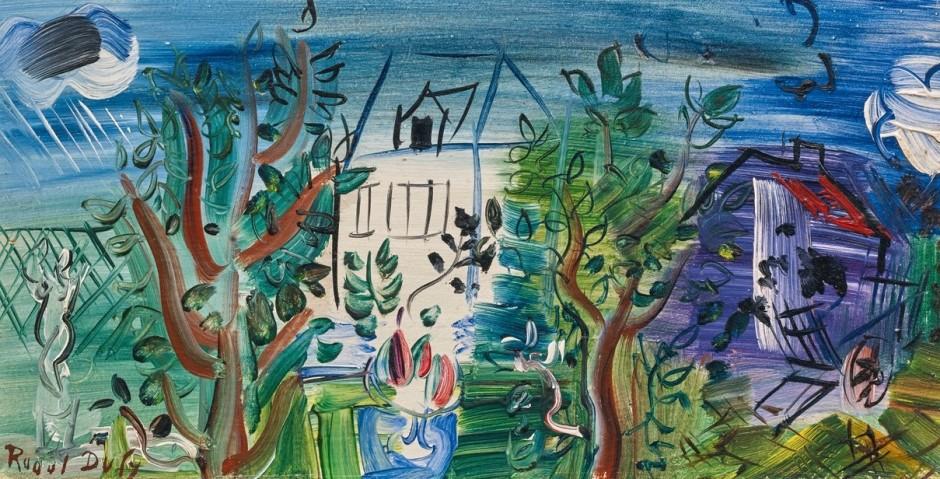 <span class=&#34;artist&#34;><strong>Raoul Dufy</strong></span>, <span class=&#34;title&#34;><em>Maison Blanche et Moulin</em>, c.1941</span>