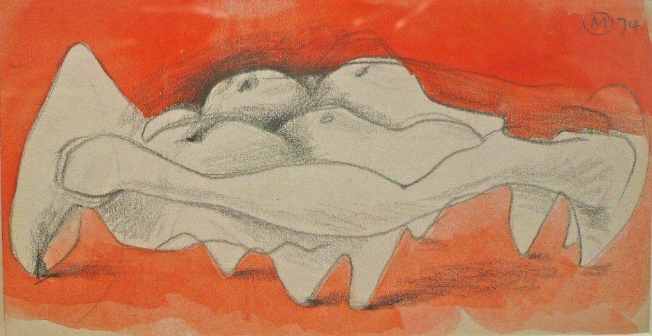 "<span class=""artist""><strong>Bernard Meadows</strong></span>, <span class=""title""><em>Drawings for Sculpture: Crab Theme 3</em>, 1974</span>"