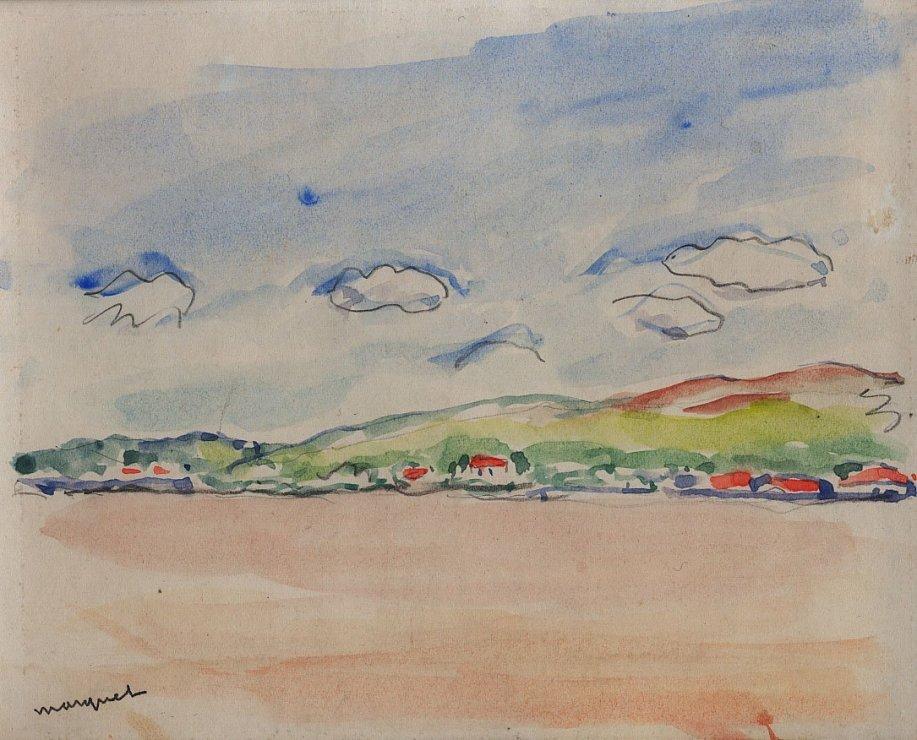 "<span class=""artist""><strong>Albert Marquet</strong></span>, <span class=""title""><em>Maisons au bord du Danube</em>, 1933</span>"