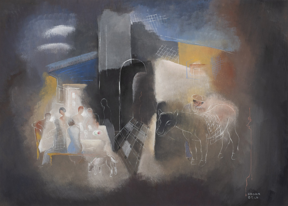 "<p><span class=""artist""><strong>Béla Kadar</strong></span>, <span class=""title""><em>The Meal</em>, c. 1940</span></p>"