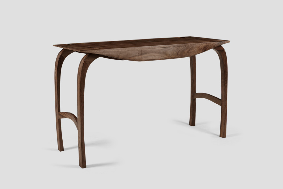 "<span class=""artist""><strong>Jonathan Field</strong></span>, <span class=""title""><em>English Walnut Desk, Design no.5</em>, 2019</span>"