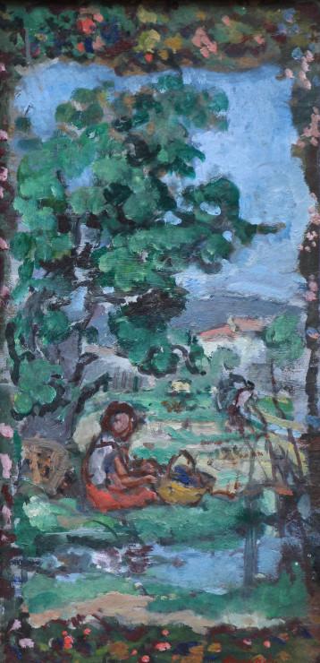 """<span class=""""artist""""><strong>Albert Andre</strong></span>, <span class=""""title""""><em>Les travaux des champs, Eté</em>, 1938</span>"""