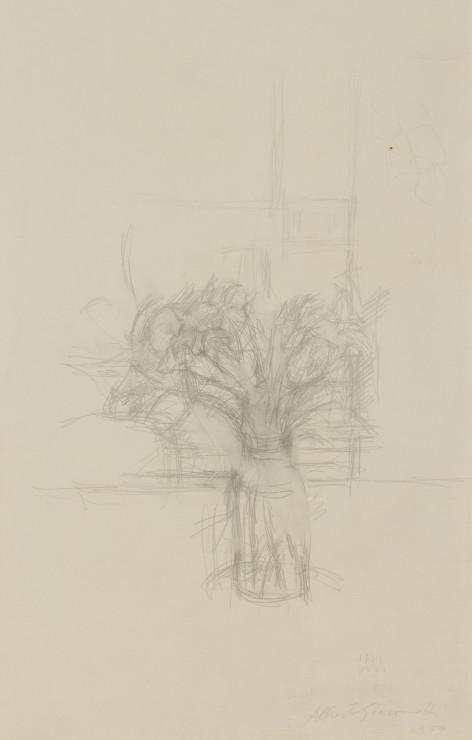 <span class=&#34;artist&#34;><strong>Alberto Giacometti</strong></span>, <span class=&#34;title&#34;><em>Nature morte aux fleurs</em>, 1954</span>