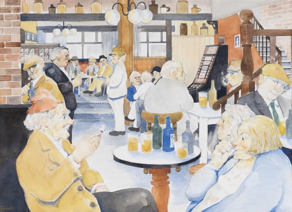 "<span class=""artist""><strong>Eric Tucker</strong></span>, <span class=""title""><em>Happy Hour</em></span>"