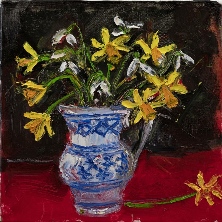 "<span class=""artist""><strong>Shani Rhys James</strong></span>, <span class=""title""><em>Daffodils & Snowdrops</em>, 2021</span>"