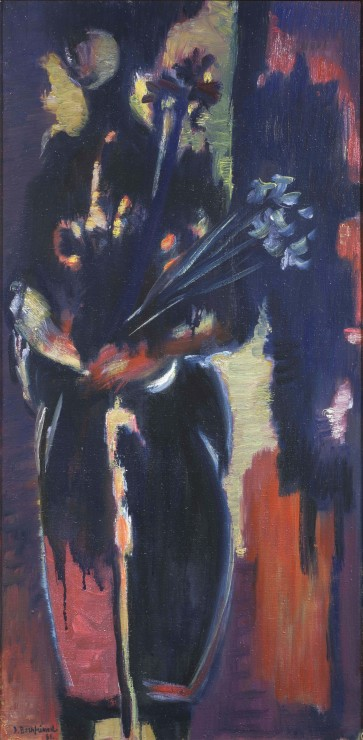 "<span class=""artist""><strong>Jacob Bornfriend</strong></span>, <span class=""title""><em>Figure with Irises</em>, 1961</span>"