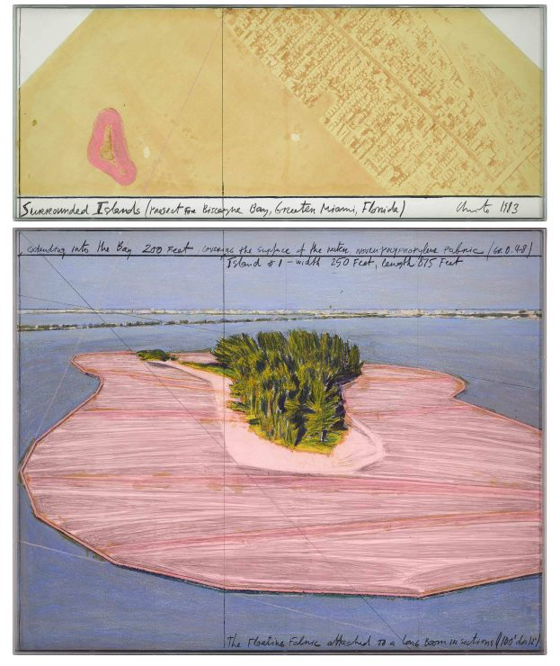 <span class=&#34;artist&#34;><strong>Christo</strong></span>, <span class=&#34;title&#34;><em>Surrounded Islands (Project for Biscayne Bay, Greater Miami, Florida)</em>, 1983</span>