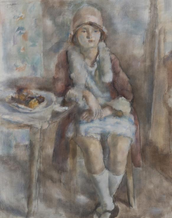 Jules Pascin, Jeune Fille au Café , 1927