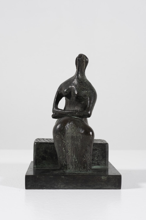 """<span class=""""artist""""><strong>Henry Moore</strong></span>, <span class=""""title""""><em>Draped Woman on Block Seat</em>, 1980</span>"""