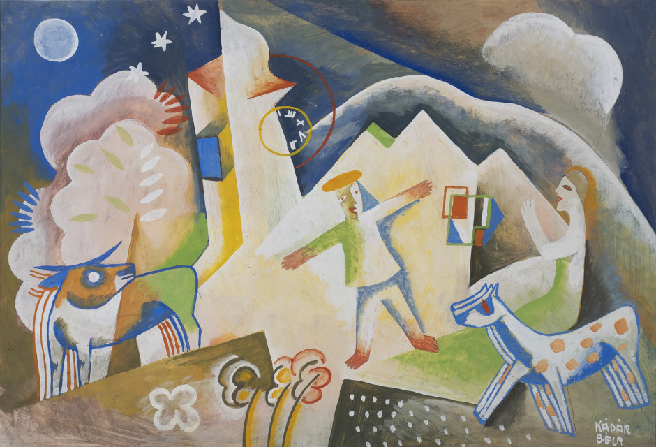 "<p><span class=""artist""><strong>Béla Kadar</strong></span>, <span class=""title""><em>Two Figures with Horse and Cow</em>, c. 1925</span></p>"