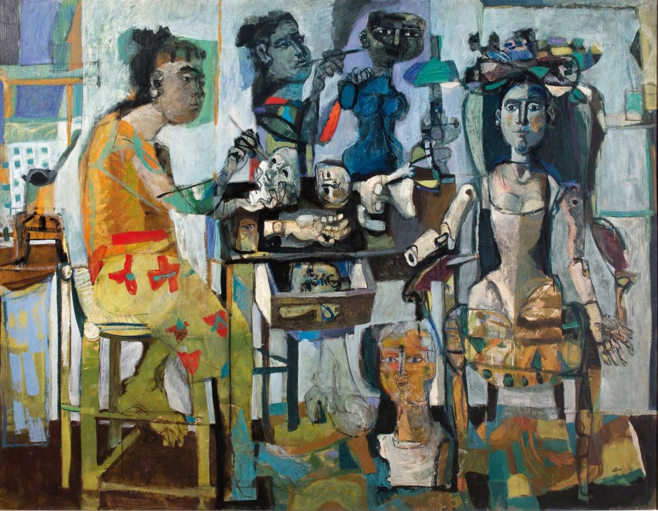 "<span class=""artist""><strong>Antoni Clavé</strong></span>, <span class=""title""><em>Mannequins (The Dollmakers)</em>, 1950</span>"