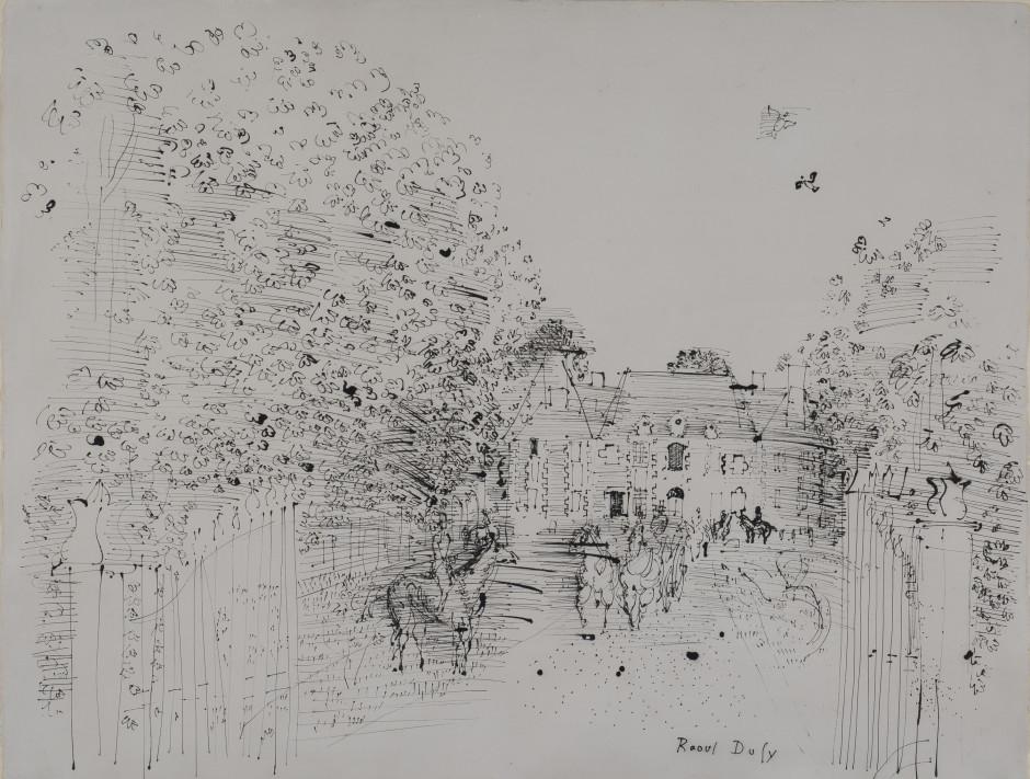 "<span class=""artist""><strong>Raoul Dufy</strong></span>, <span class=""title""><em>Le Haras du Pin</em>, 1930</span>"