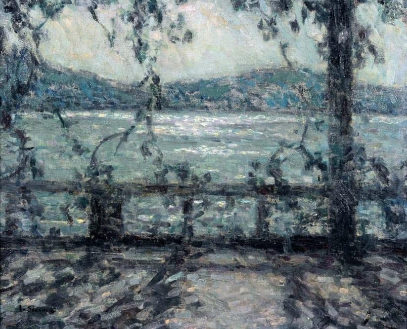 """<span class=""""artist""""><strong>Henri Le Sidaner</strong></span>, <span class=""""title""""><em>Terrasse au clair de lune, Villefranche-sur-mer</em>, c.1927-29</span>"""