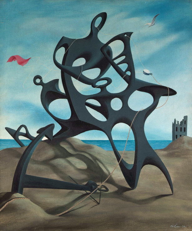 "<span class=""artist""><strong>Tristram Hillier</strong></span>, <span class=""title""><em>Object on a beach no.1</em>, 1936</span>"