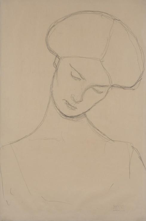 """<span class=""""artist""""><strong>Gustav Klimt</strong></span>, <span class=""""title""""><em>Femme Assise</em>, 1916</span>"""