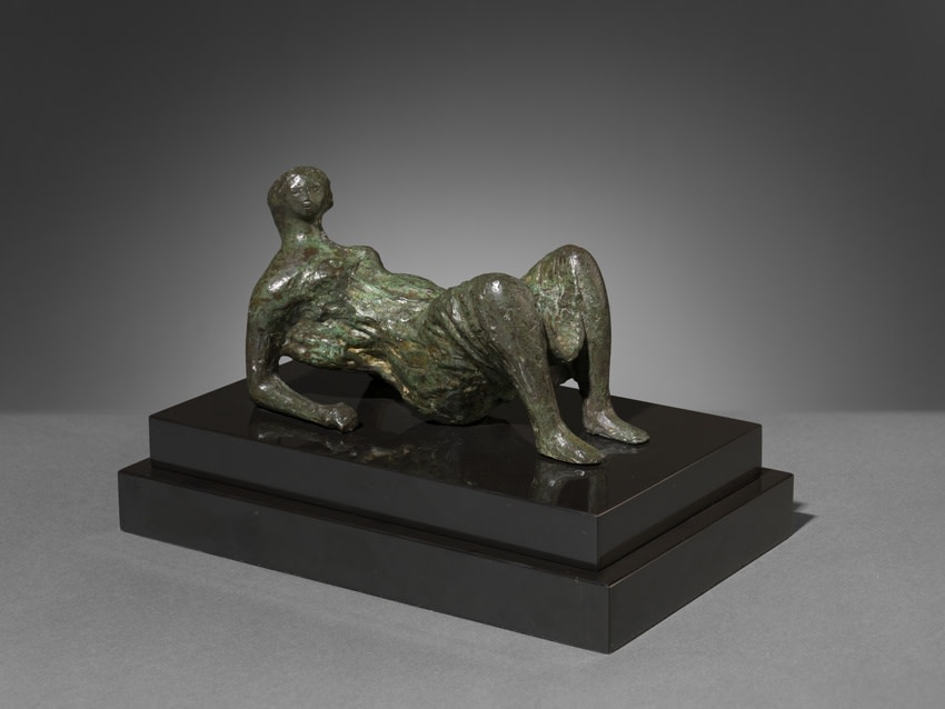 "<span class=""artist""><strong>Henry Moore</strong></span>, <span class=""title""><em>Maquette for Draped Reclining Figure</em>, 1952</span>"