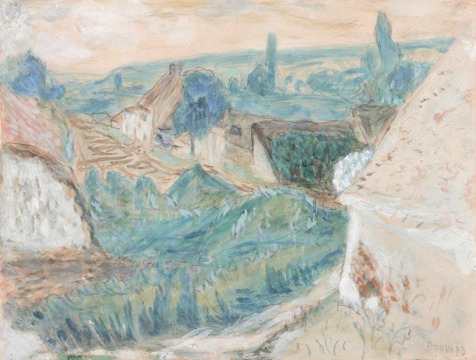 "<span class=""artist""><strong>Pierre Bonnard</strong></span>, <span class=""title""><em>Village - Vernonnet</em>, c.1922</span>"