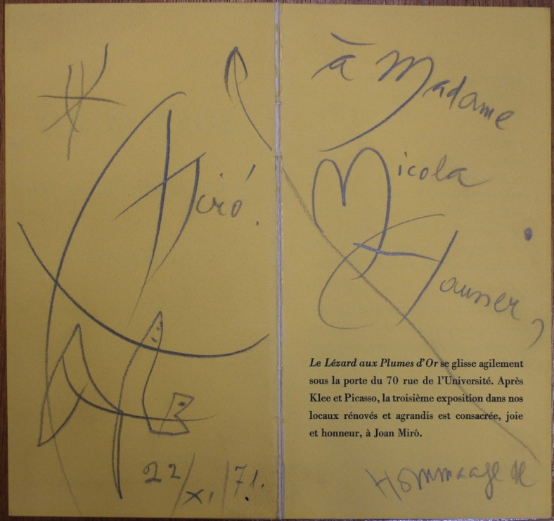 "<span class=""artist""><strong>Joan Miro</strong></span>, <span class=""title""><em>Dédicace</em></span>"
