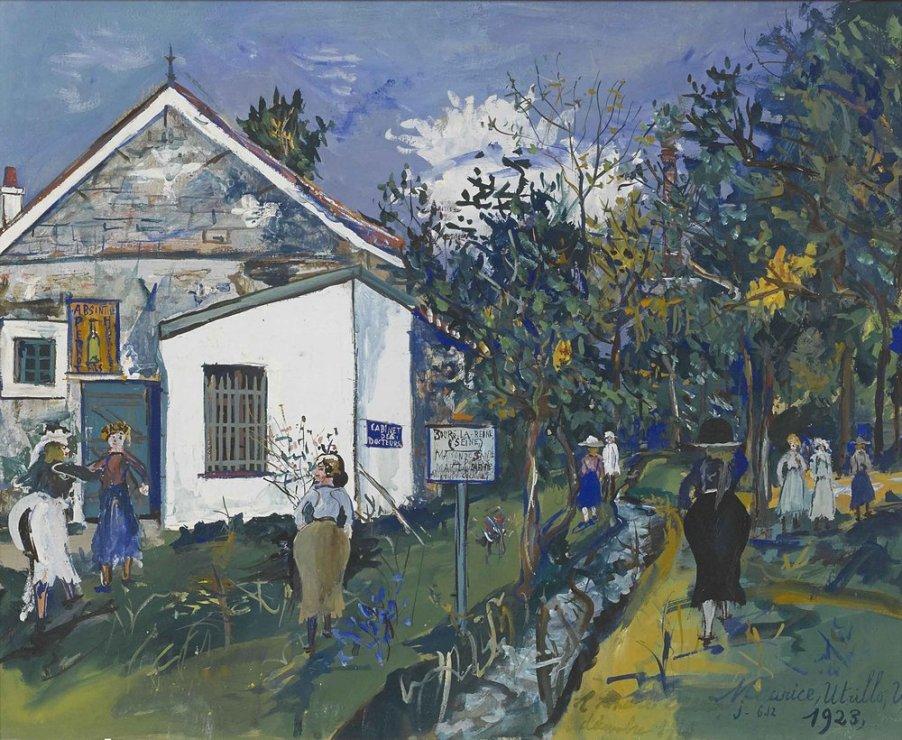 """<span class=""""artist""""><strong>Maurice Utrillo</strong></span>, <span class=""""title""""><em>Maison de santé du docteur Marteau à Bourg-la-Reine</em>, 1923</span>"""