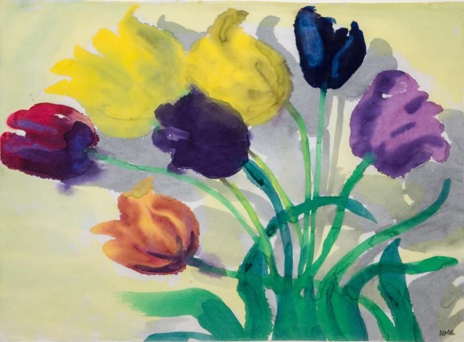 """<span class=""""artist""""><strong>Emil Nolde</strong></span>, <span class=""""title""""><em>Tulpen</em></span>"""