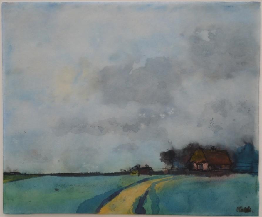 """<span class=""""artist""""><strong>Emil Nolde</strong></span>, <span class=""""title""""><em>Gehöft in der Marsch</em></span>"""
