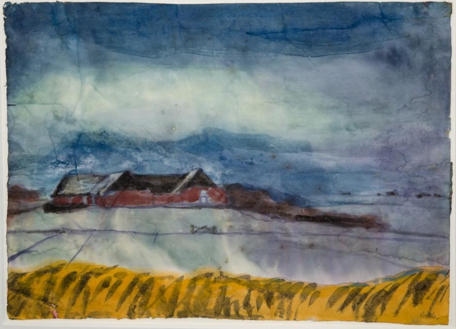 """<span class=""""artist""""><strong>Emil Nolde</strong></span>, <span class=""""title""""><em>Das Gehöft – Seebüll</em>, c.1940</span>"""