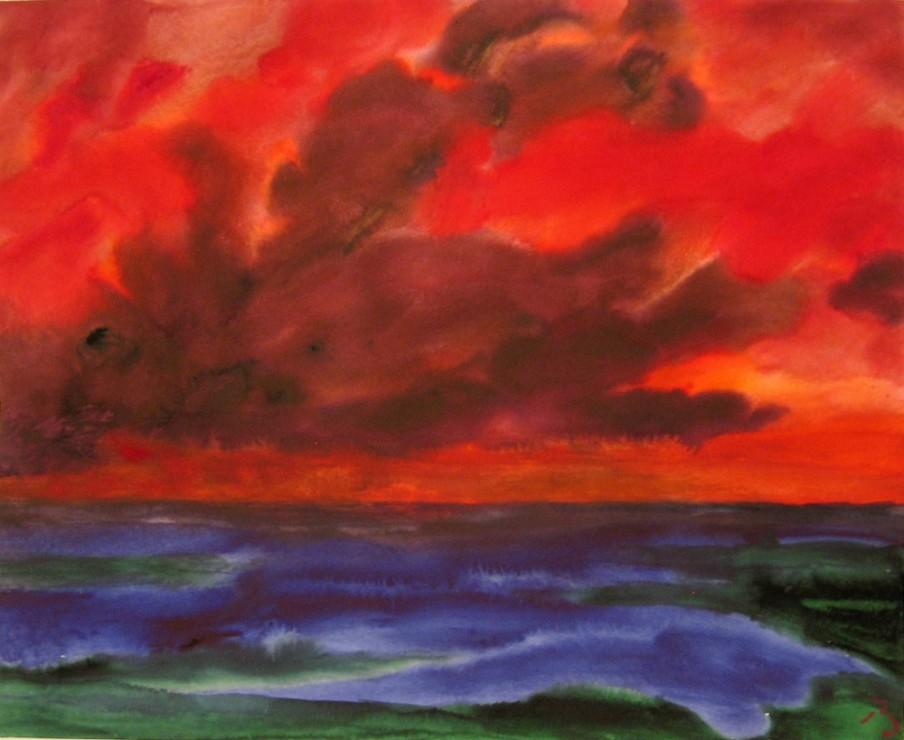 """<span class=""""artist""""><strong>Herbert Beck</strong></span>, <span class=""""title""""><em>Sonnenuntergang</em>, c.2006</span>"""
