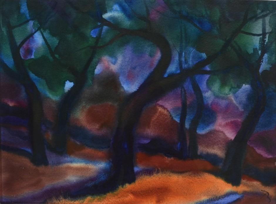 """<span class=""""artist""""><strong>Herbert Beck</strong></span>, <span class=""""title""""><em>Sommerwald</em></span>"""