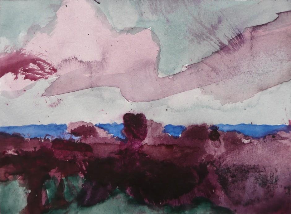 """<span class=""""artist""""><strong>Herbert Beck</strong></span>, <span class=""""title""""><em>Violettes Wolkenband</em></span>"""