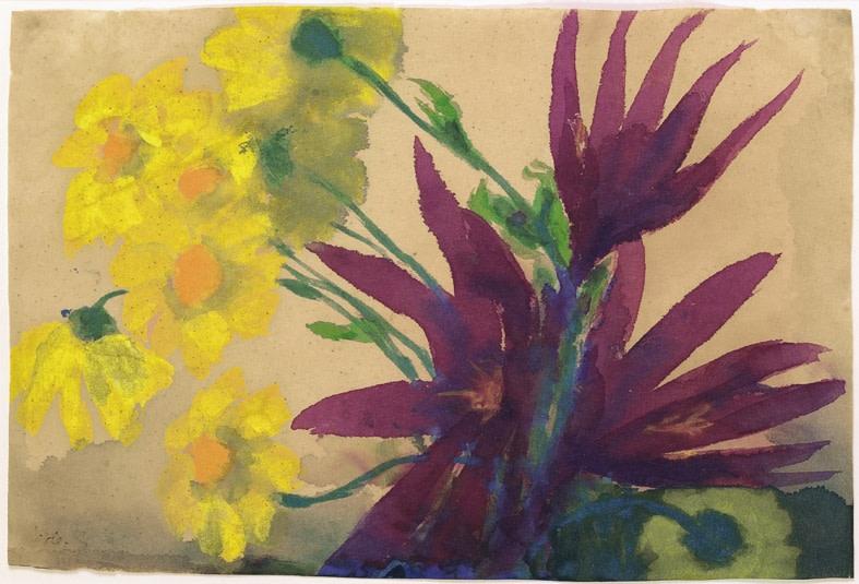 "<span class=""artist""><strong>Emil Nolde</strong></span>, <span class=""title""><em>Flowers</em>, c.1930-35</span>"
