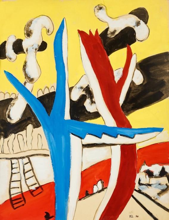 "<span class=""artist""><strong>Fernand Léger</strong></span>, <span class=""title""><em>Paysage aux vaches</em>, 1936</span>"