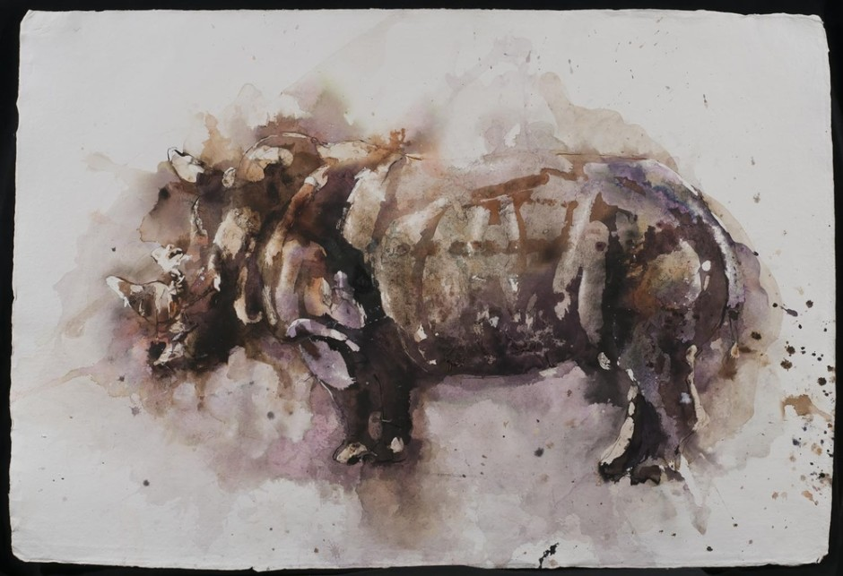 "<span class=""artist""><strong>Paul Richards</strong></span>, <span class=""title""><em>Rhinoceros</em>, 2014</span>"