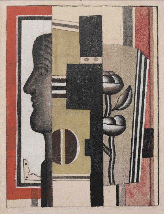 """<span class=""""artist""""><strong>Fernand Léger</strong></span>, <span class=""""title""""><em>Nature Morte avec Profil</em>, 1925</span>"""