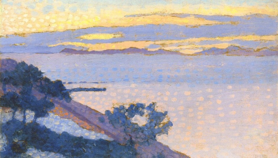 "<span class=""artist""><strong>Henri Edmond Cross</strong></span>, <span class=""title""><em>Paysage au soleil couchant</em>, 1892</span>"