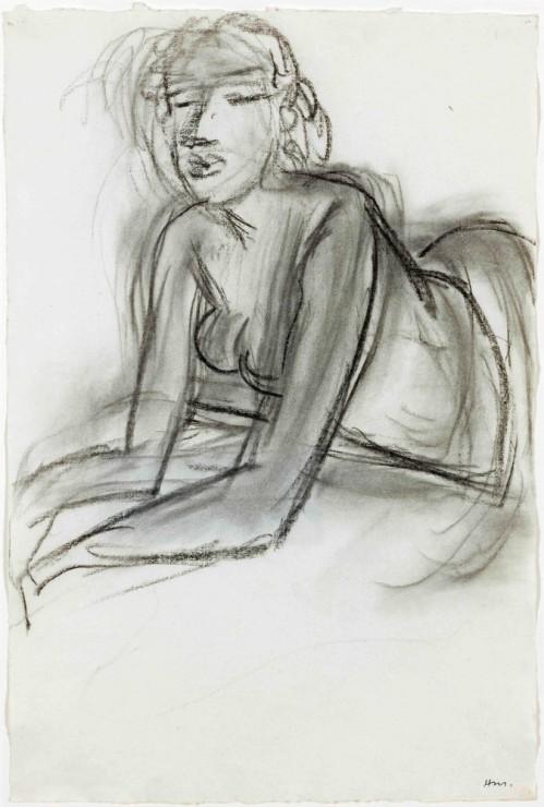 """<span class=""""artist""""><strong>Henri Matisse</strong></span>, <span class=""""title""""><em>Femme accoudée</em>, 1938</span>"""