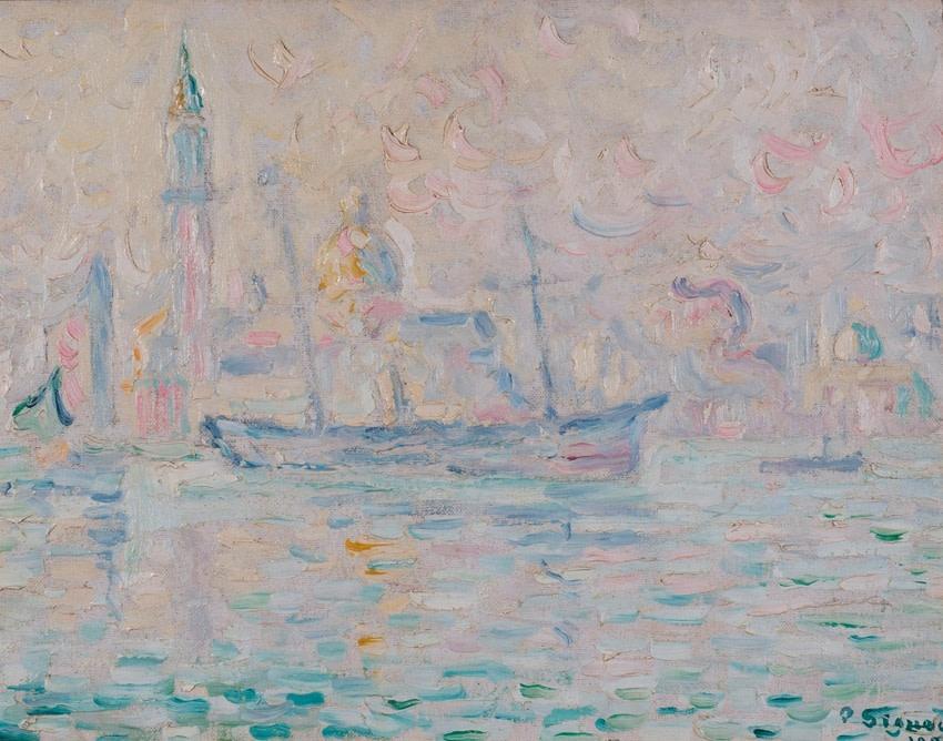 "<span class=""artist""><strong>Paul Signac</strong></span>, <span class=""title""><em>Venise. Matin.</em>, 1904</span>"